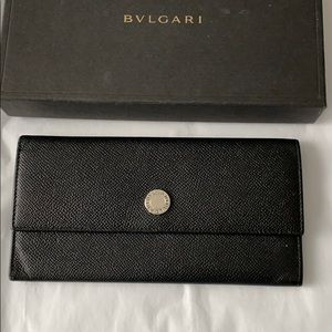 BVLGARI Leather Bifold Wallet